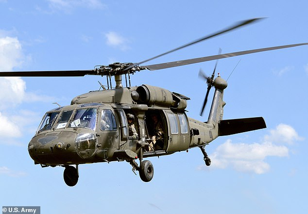 Both Marketta and Shelton enlisted in the Army as repairers of the15T UH-60 Black Hawk helicopter (seen in the above stock image)