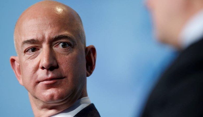 Amazon protesters set up guillotine outside Jeff Bezos' home