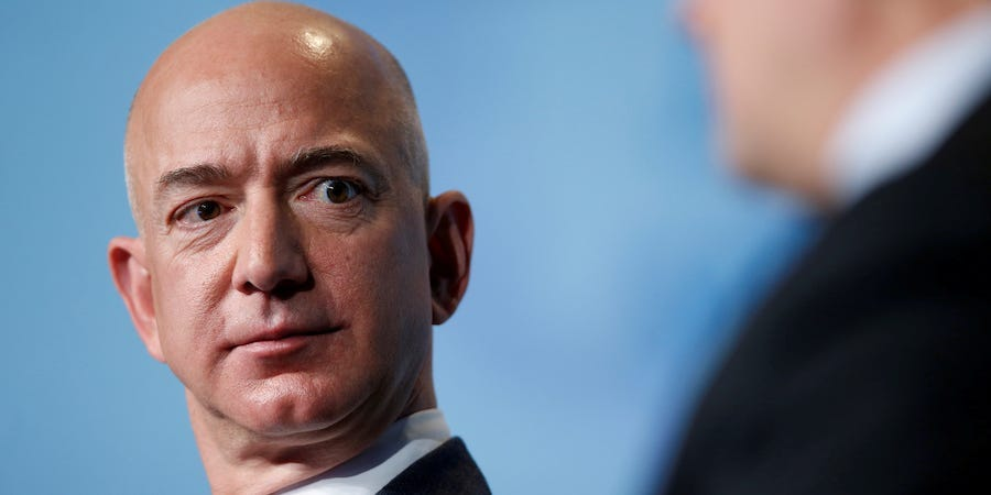 Amazon protesters set up guillotine outside Jeff Bezos' home
