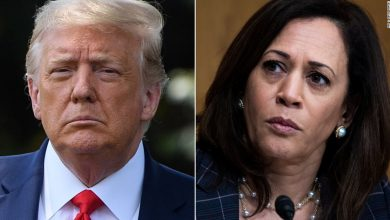 Photo of New off conference, Trump launches baseless attack on Kamala Harris
