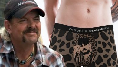 Photo of Joe Exotic Launching Lingerie Fashion Line In Croats With Her Face