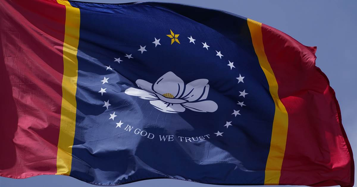 The new Mississippi flag design will appear on the November ballot after the federal symbol is dropped