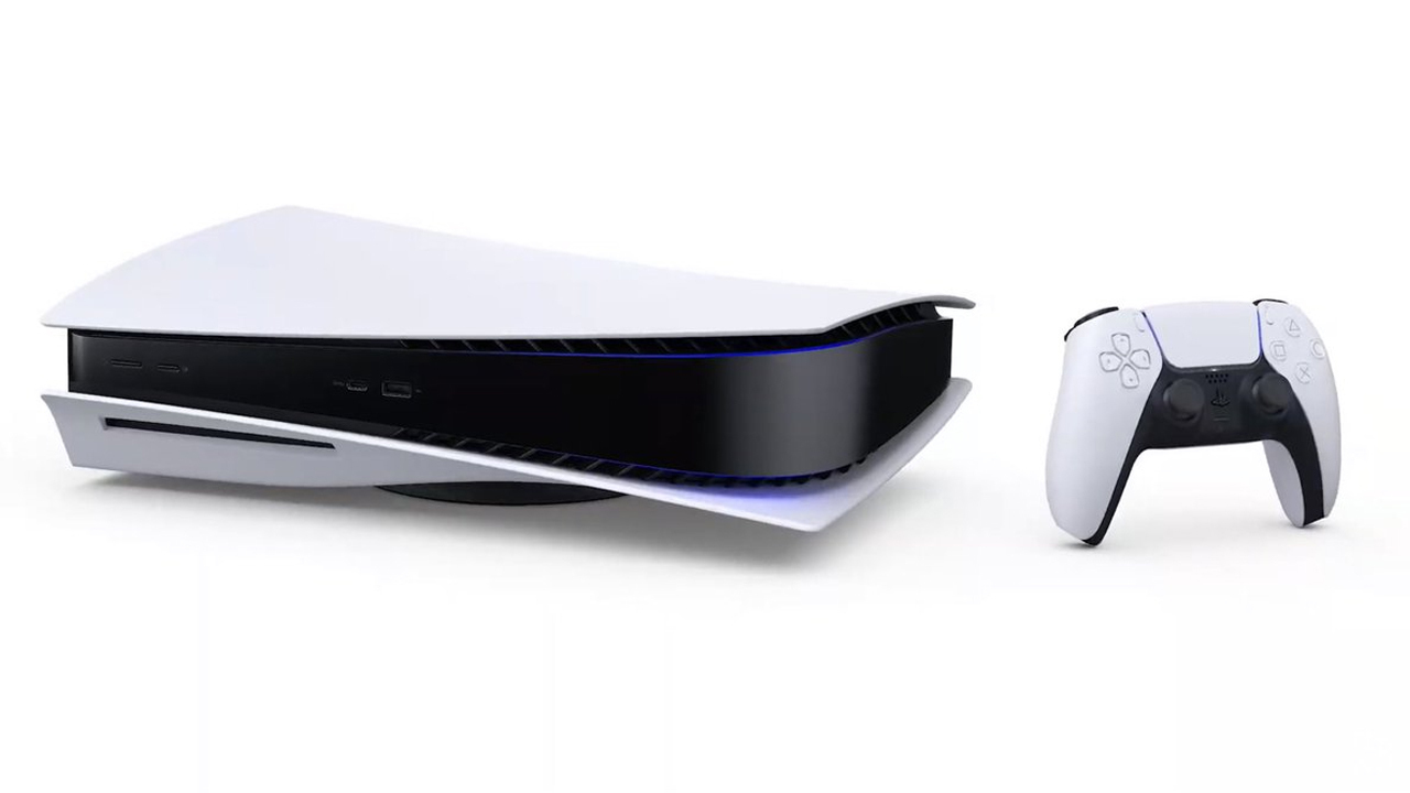 The PS5 can stand upright or be placed on its side.