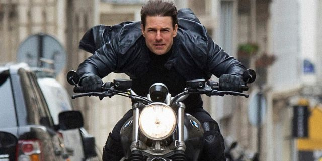 """Published by Paramount Pictures, the film shows Tom Cruise in a scene """"Task: Impossible - precipitation,"""" The sixth image of the Mission Impossible franchise."""