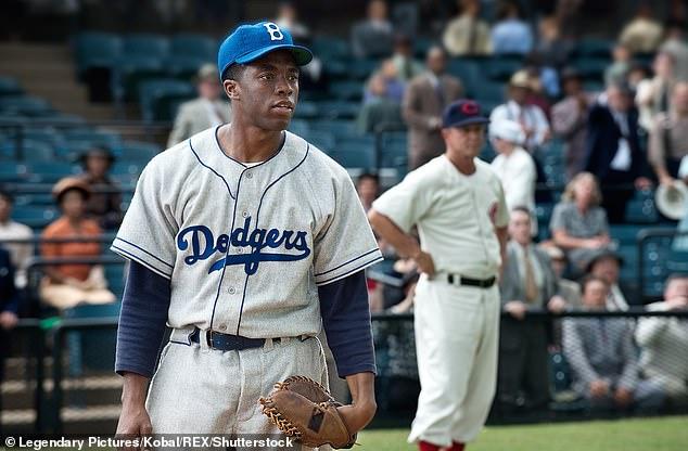 Legend: Chadwick starred as Jackie Robinson in 42 films released in 2013