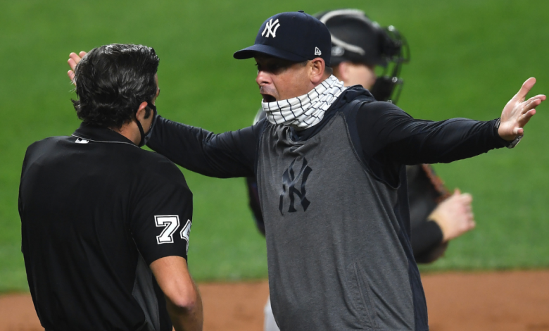 Yankees manager Aaron Boone fired for transparent filling on balls and strikes