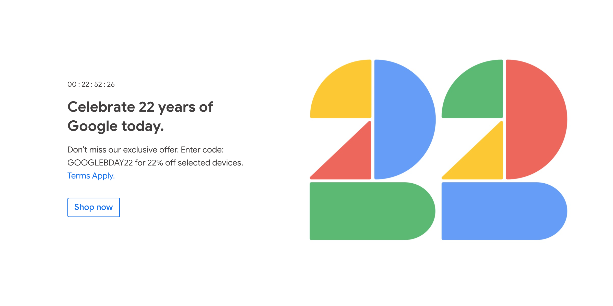 Google Store marks the company's birthday in some countries