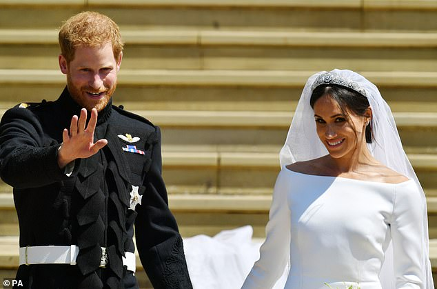 Prince Harry and Megan are in the picture after their wedding at Windsor Castle in May 2018