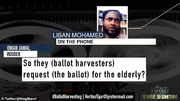 O'Keefe's project Veritas released a video of Liban Mohammed, brother of Minneapolis city councilor Jamal Osman, illegally dropping about 300 votes during the recent election.