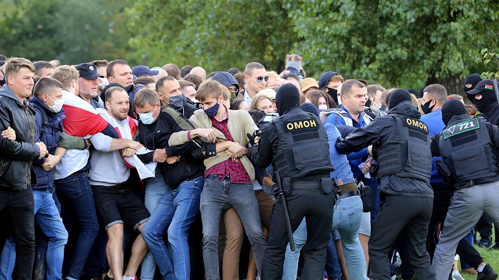 Belarusian police detain 250 protesters as crowd grows |  News