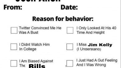 Photo of Bills QB Josh Allen creates apology form on social media (send it)