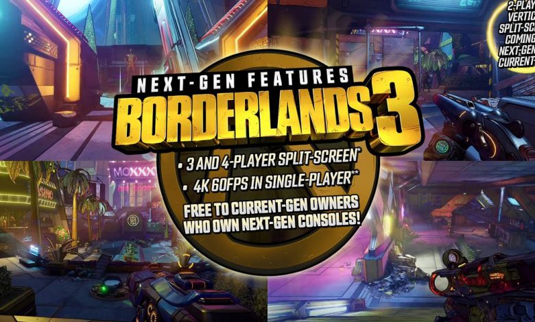 Borderlands 3 gets free PS5 and Xbox Series X upgrade and four-player splitscreen