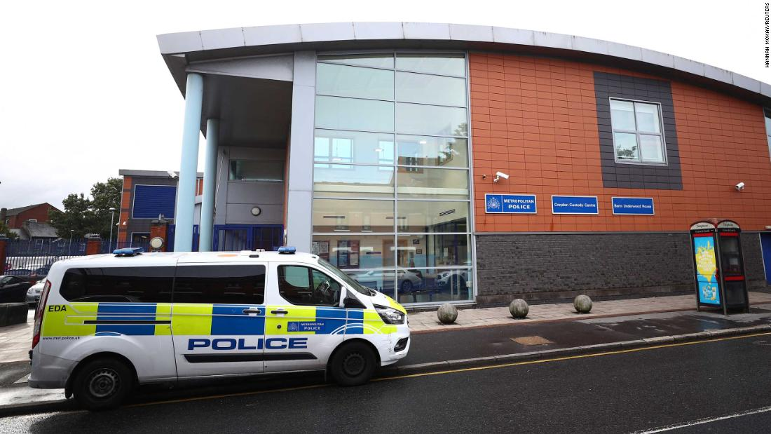 A general view of the south London custody facility where a police officer was shot dead on Friday.