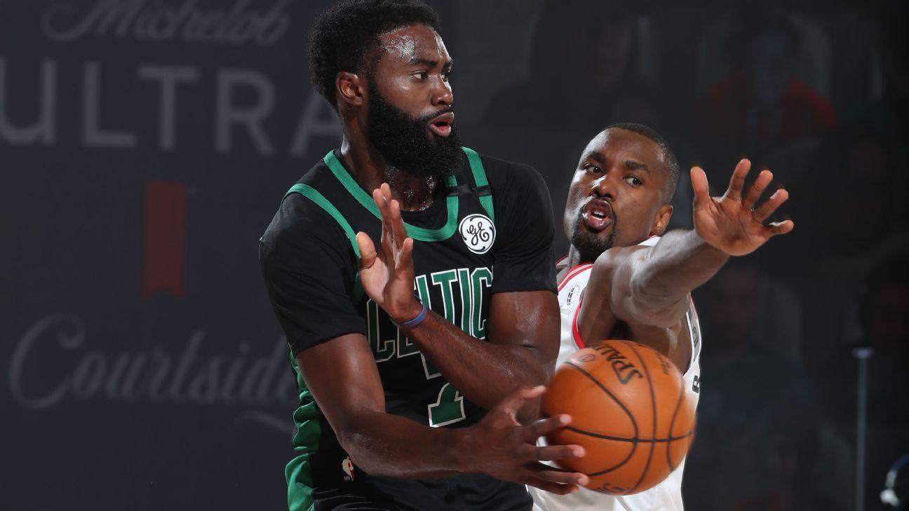 Jaylan Brown says the Celtics' last second loss was a 'shame' for the Raptors