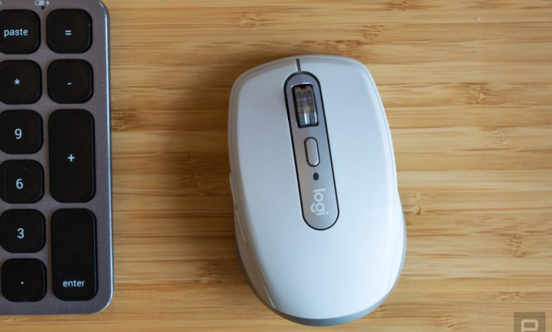 Logitech's new MX Anywhere 3 mouse zoom has buttons to control calls