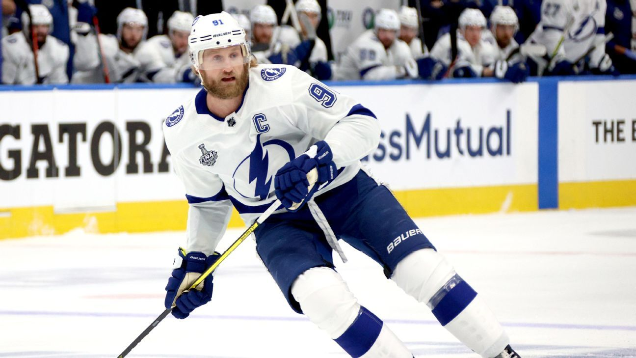 Tampa Bay Lightning captain Steven Stamkos withdraws from Game 4