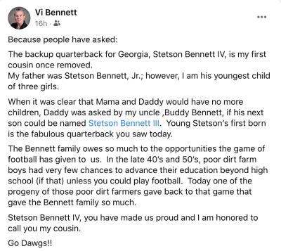 Stetson Bennett-Georgia Football-UGA Football