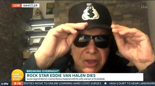 Struggle: Paying an emotional tribute to Eddie, he added: 'You will meet a beautiful soul from time to time, I have not spoken your truth, I could not sign in Eddie's shoes'