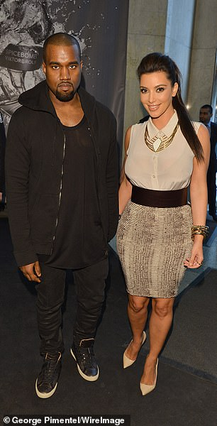 Pictured in Kim and Kanye West 2012