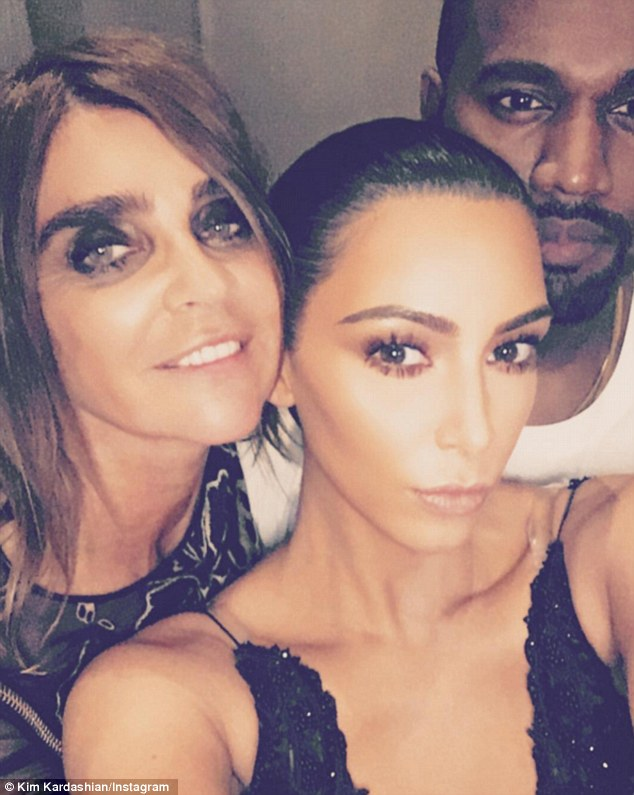 The Godmother of Fashion: CR Fashion Book Editor-in-Chief Karen Roydfield (L) was a key figure in justifying Kardashian's adoption in the high fashion world in 2016 (pictured in 2016)