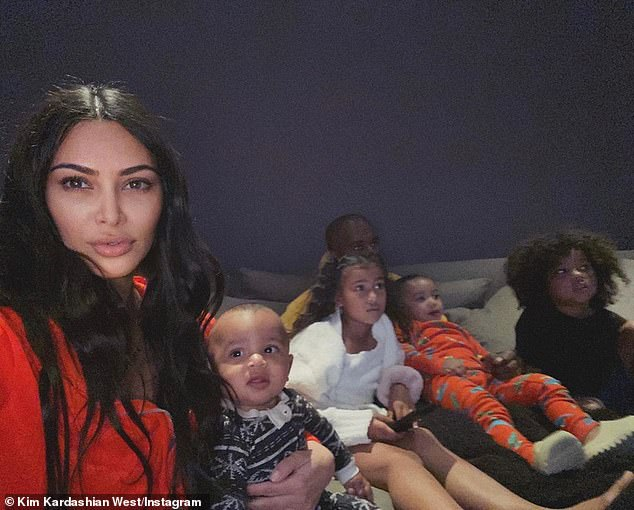 March 25 Family portrait: Kim and Kanye married in 2014 after two years of dating - son St., 4; Daughter Chicago, 2; Son Psalm, 16 months