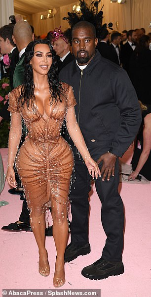 Kim and Kanye West filmed in 2019 at the Med Gala