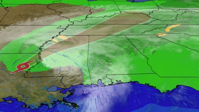 Tropical Storm Delta brings south with heavy rain, strong winds and isolated hurricanes on Saturday