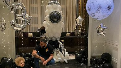 Photo of Drake celebrates his son Adonis' third birthday with his grandparents