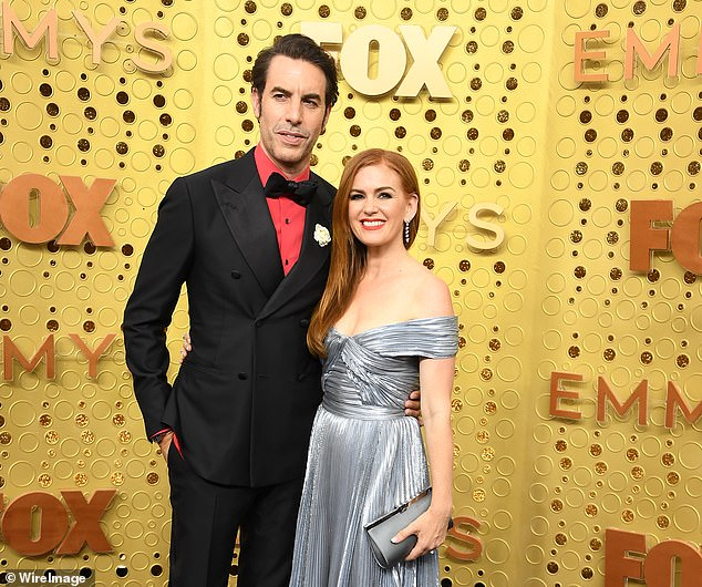 Cohen, who lives in Los Angeles with his wife Isla Fisher (pictured together), said he has seen a change in American society since the filming of the first Borat film in 2005.