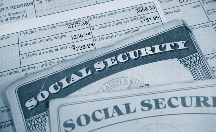 There are two Social Security cards on the W2 tax form.