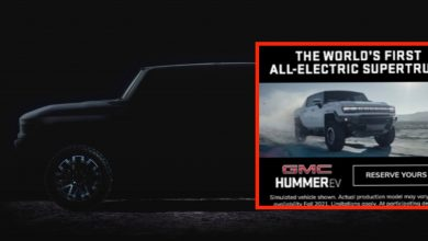Photo of GMC Hummer EV Electric pickup design leaks in advertising prior to introduction