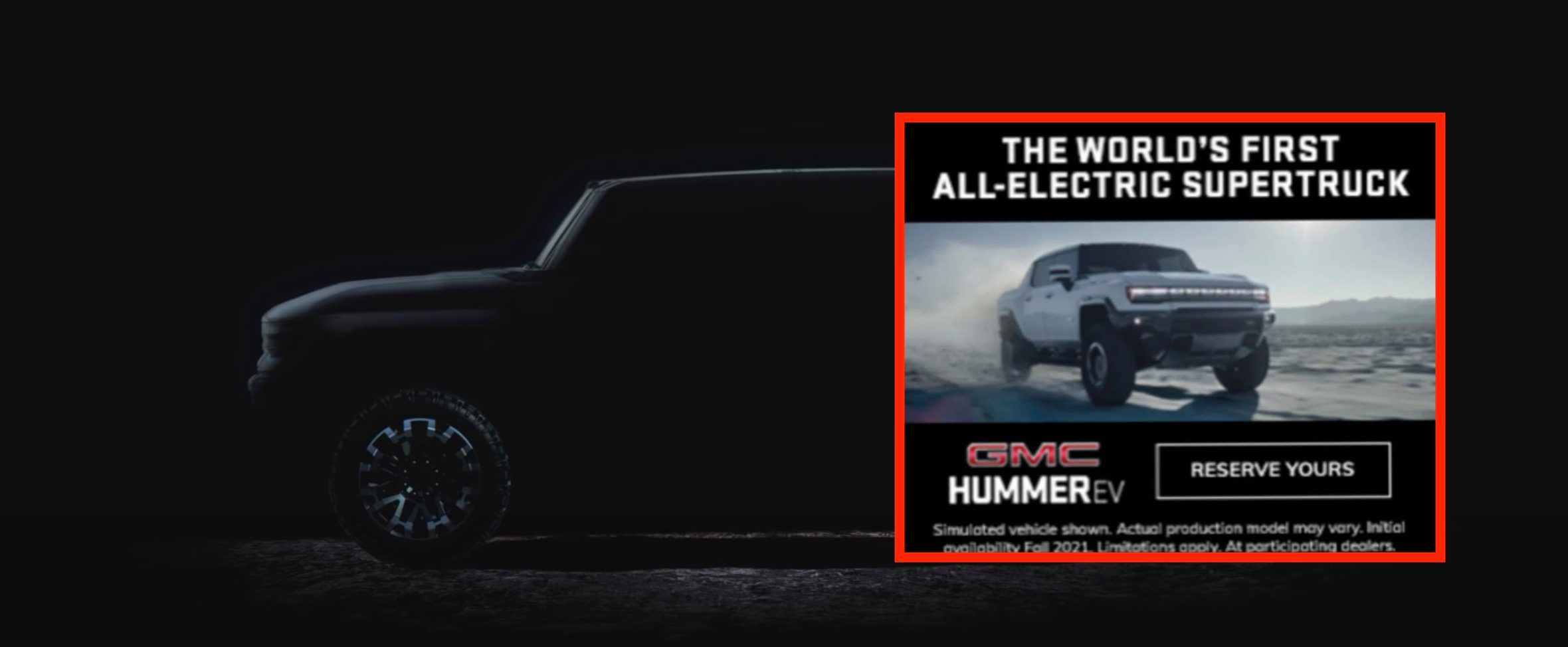 GMC Hummer EV  Electric pickup design leaks in advertising prior to introduction