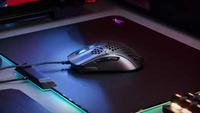 Photo of HyperX's Pulsefire Host is a lightweight gaming mouse enclosed in holes