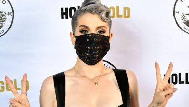 Photo of Kelly Osborne shows 85-pound weight loss, wearing a colorful 'vote' mask as she celebrates her 36th birthday