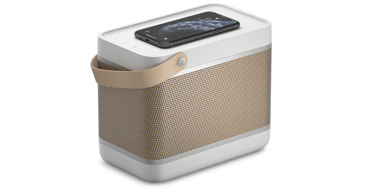 Bang & Olufson's latest lunch box-shaped speaker has a built-in Qi wireless charger