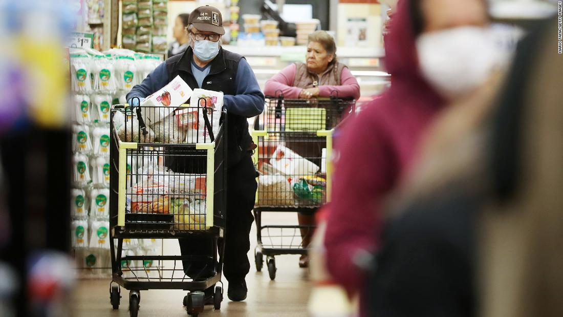 About 20% of grocery store employees had Govit-19, and the study found that most had no symptoms