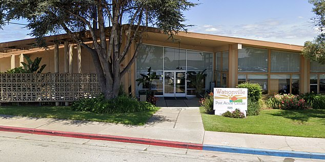 A corona virus outbreak at the Watsonville Post Acute Center in Santa Cruz County (pictured) has killed nine people and injured more than 60 residents and staff, health officials said Wednesday.