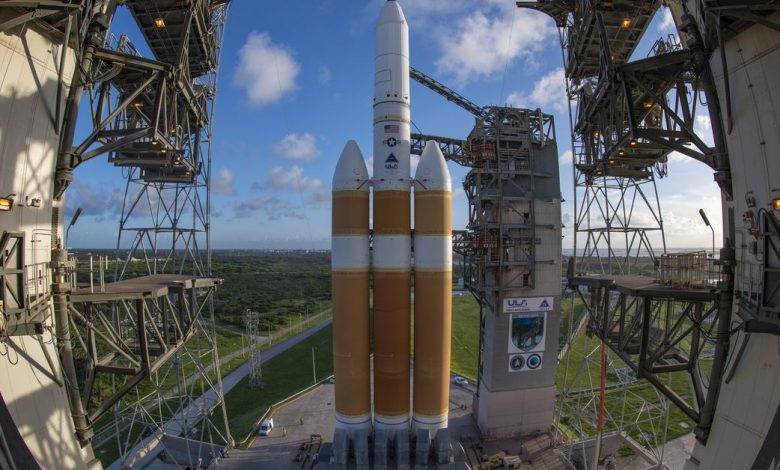 After a long delay, the ULA's most powerful rocket was ready to launch a classified spy satellite