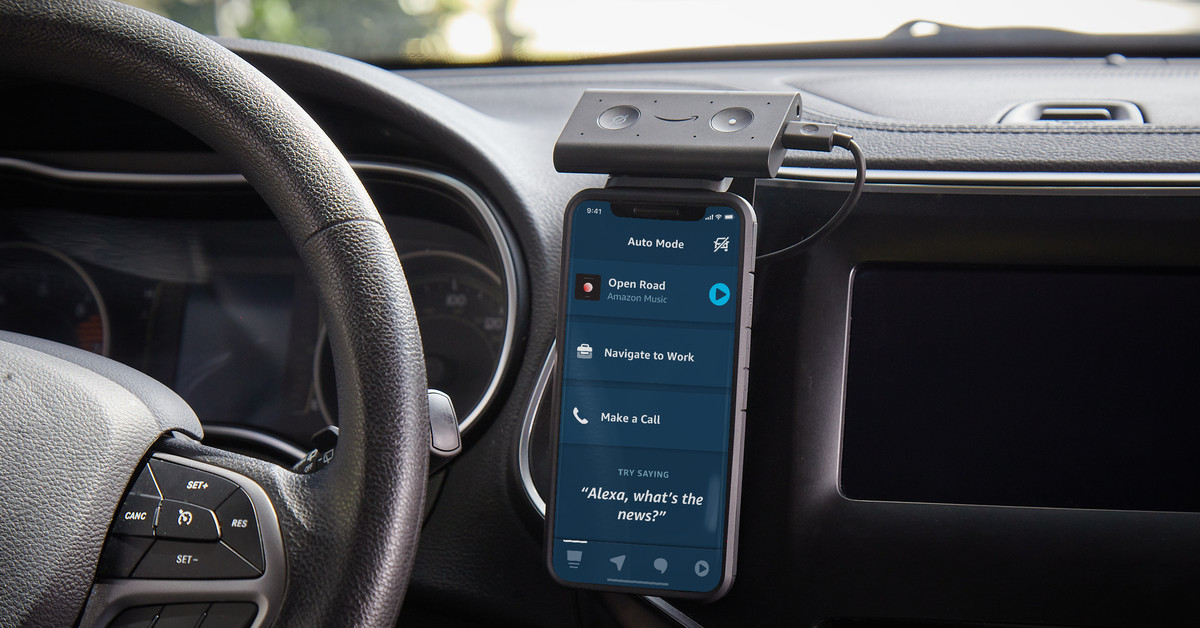 Amazon's Alexa application will soon act as an in-car display for the Echo Auto