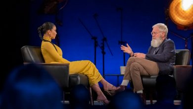 Photo of David Letterman confronts Kim Kardashian West over working with Trump