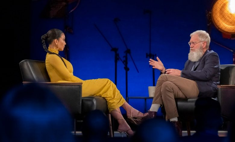 David Letterman confronts Kim Kardashian West over working with Trump