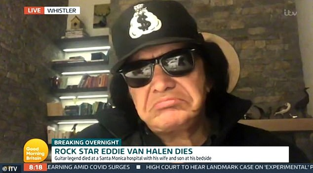 Photo of Kiss icon Jean Simmons' emotional tribute to friend Eddie Van Hollen