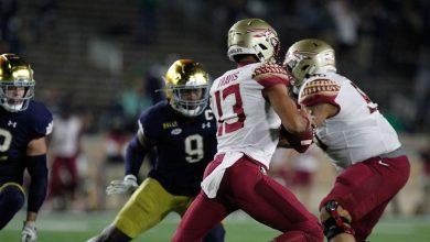 Photo of No. 5 Notre Dame 42, FSU 26; 4th Quarter