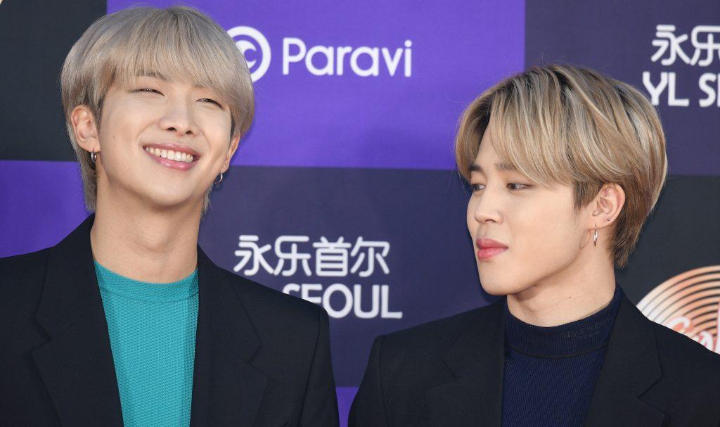 PTS members RM and Jimin