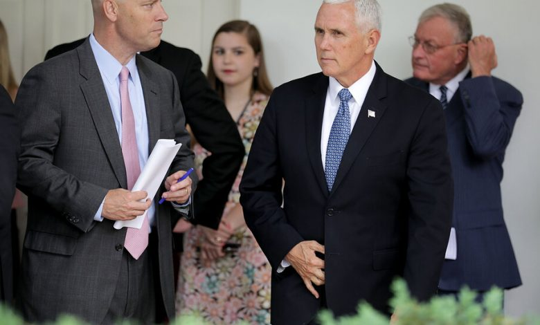 Pence positive inner circle test members for corona virus