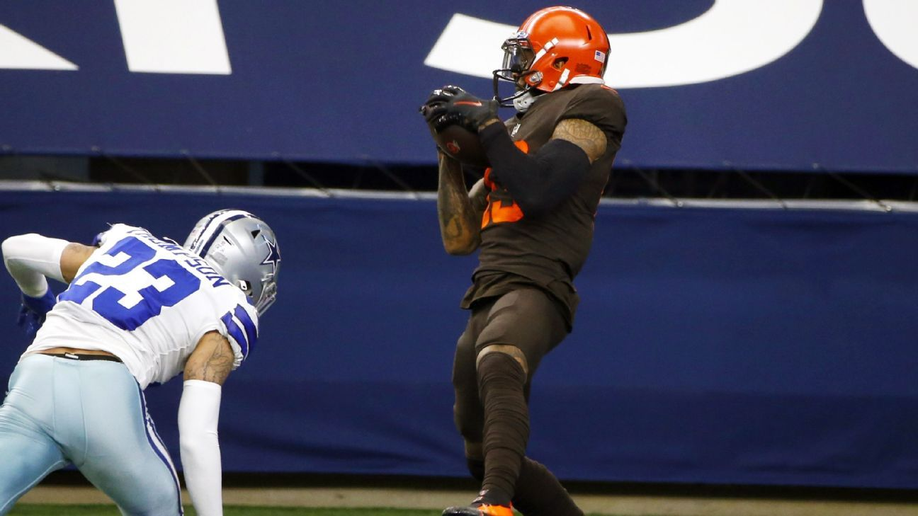 The Brownies' Jarvis Laundry Otel Beckham Jr. won the 37-yard D.T.