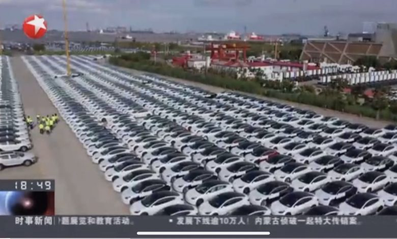 The Tesla Model 3 made in Giga Shanghai goes to Europe next week