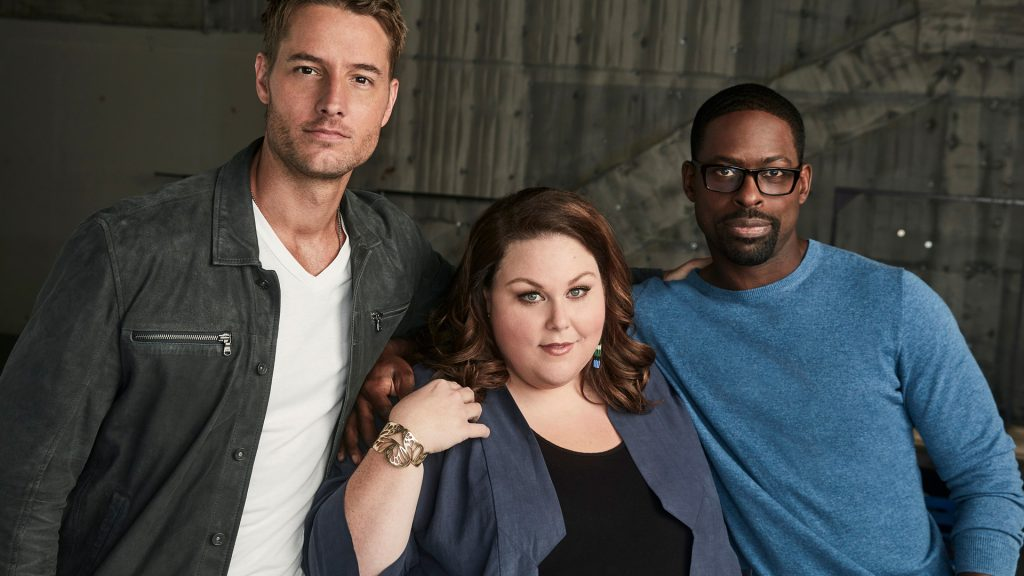 Justin Hartley, Chrissy Mets and Sterling K. Brown plays Kevin, Kate and Randall in 'This Is S'