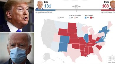 Photo of The map shows if Trump or Biden wins