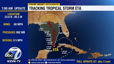 Photo of Etta gains strength in the Gulf of Mexico
